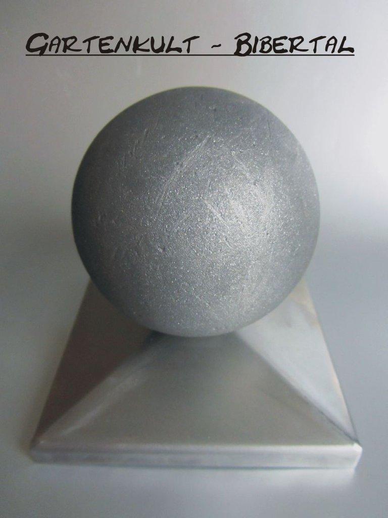 Zaunkappe 40 50 80 100 mm pfostenkappe pyramidenkappe for Eisenkugel deko