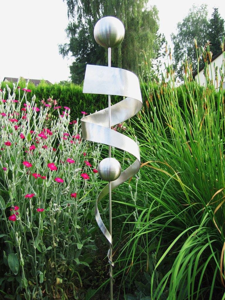 Gartendeko edelstahl gartenstecker  aus Edelstahl Nr.31
